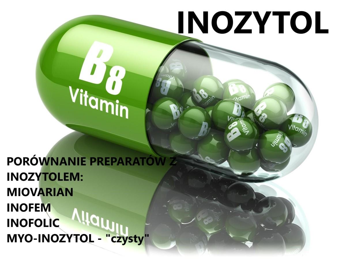 INOZYTOL - lek na PCO i stres Porównanie Miovarian – Inofem – Inofolic – czysty Myo- Inosytol